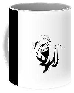 Masquerade White On Black Coffee Mug