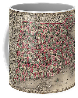 Massachusetts, Connecticut And Rhode Island Coffee Mug