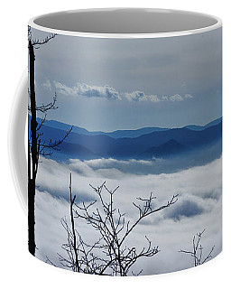 Coffee Mug featuring the photograph Massanutten Foggy Top 1 by Lara Ellis