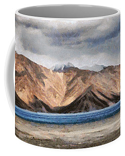 Massive Mountains And A Beautiful Lake Coffee Mug