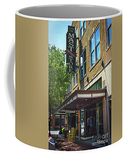 Coffee Mug featuring the photograph Mast General by Skip Willits