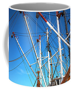Coffee Mug featuring the photograph Masts At Barnegat Bay by John Rizzuto