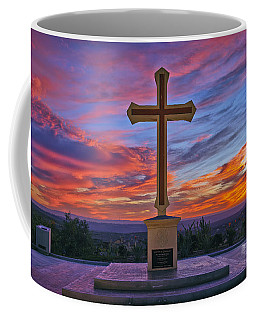 Christian Cross And Amazing Sunset Coffee Mug