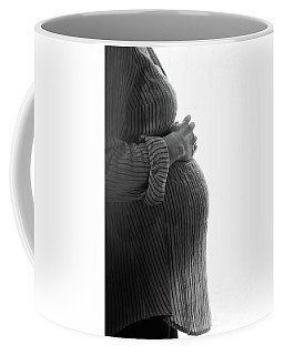Coffee Mug featuring the photograph Maternity Silhouette by Kelly Hazel