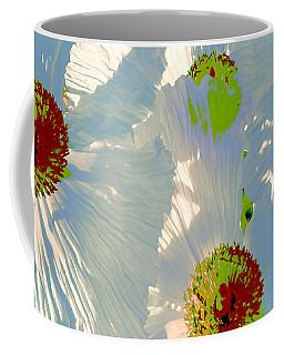 Matilija Poppies Pop Art Coffee Mug by Ben and Raisa Gertsberg