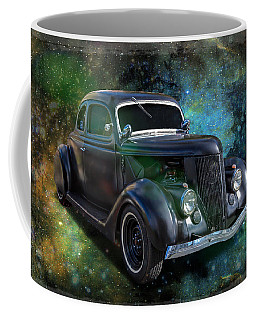 Matt Black Coupe Coffee Mug by Keith Hawley