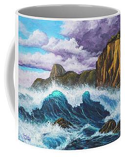 Coffee Mug featuring the painting Maui Rugged Coast  by Darice Machel McGuire
