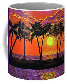 Maui Sunset Palm Trees Coffee Mug