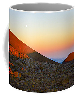 Mauna Kea Sunset With Full Moon Volcanoes National Park Hawaii Coffee Mug