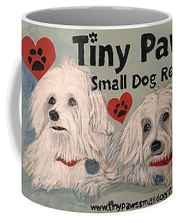Coffee Mug featuring the painting Max And Hannah by Sharon Schultz