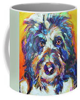Max, The Aussiedoodle Coffee Mug by Robert Phelps