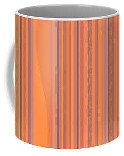 Coffee Mug featuring the digital art May Morning Vertical Stripes by Val Arie