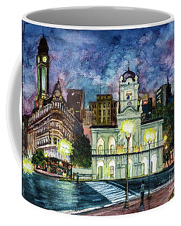 Coffee Mug featuring the painting May Square, Buenos Aires by Bernardo Galmarini