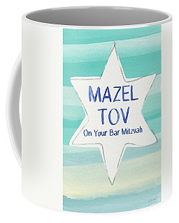 Mazel Tov On Your Bar Mitzvah-  Art By Linda Woods Coffee Mug