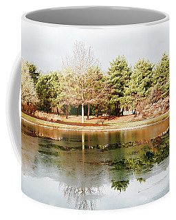 Coffee Mug featuring the photograph Mcbride Arboretum - Winter Reflection by Shawna Rowe