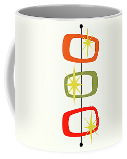 Coffee Mug featuring the digital art Mcm Shapes 1 by Donna Mibus