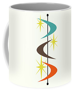 Coffee Mug featuring the digital art Mcm Shapes 2 by Donna Mibus