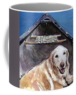 Coffee Mug featuring the painting Me You Canoe by Molly Poole