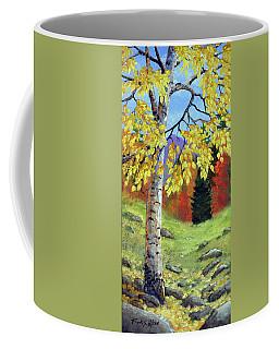 Meadow Birch In Autumn Coffee Mug