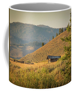 Coffee Mug featuring the photograph Meadow Cabin by Mark Mille