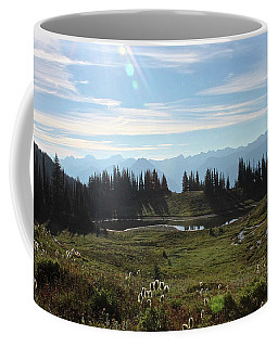 Meadow Mountain View Coffee Mug by Cathie Douglas