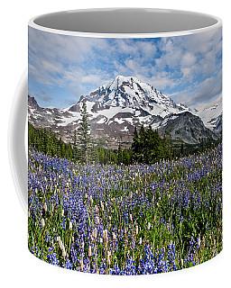 Meadow Of Lupine Near Mount Rainier Coffee Mug