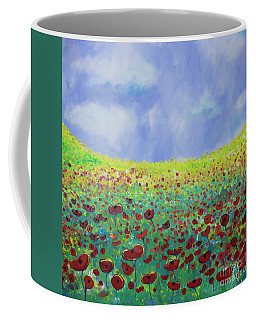 Meadow Of Poppies  Coffee Mug