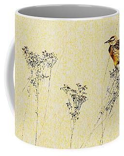 Meadowlark In Kansas Prairie 1 Coffee Mug