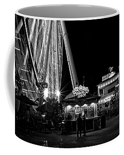 Meals And A Wheel In Black And White Coffee Mug
