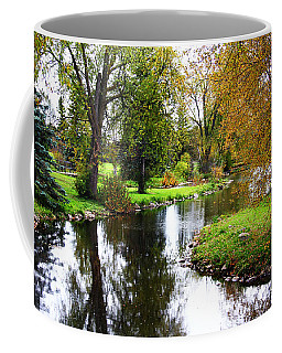 Meandering Creek In Autumn Coffee Mug