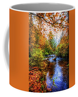 Coffee Mug featuring the photograph Meandering In The Mountains by Debra and Dave Vanderlaan