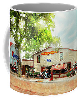 Coffee Mug featuring the photograph Mechanic - All Cars Finely Tuned 1920 by Mike Savad