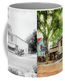 Coffee Mug featuring the photograph Mechanic - All Cars Finely Tuned 1920 - Side By Side by Mike Savad