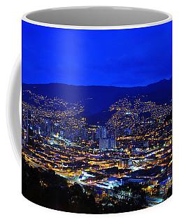 Medellin Colombia At Night Coffee Mug