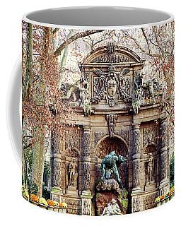 Medici Fountain In Autumn - Paris, France Coffee Mug