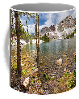 Medicine Bow Snowy Mountain Range Lake View Coffee Mug
