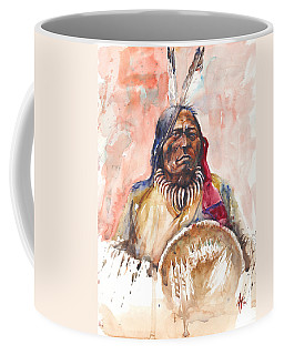 Coffee Mug featuring the painting Medicine Man by Arthur Fix