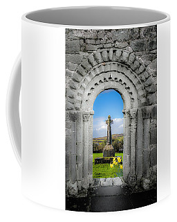 Medieval Arch And High Cross, County Clare, Ireland Coffee Mug