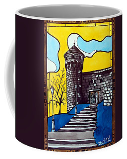 Coffee Mug featuring the painting Medieval Bastion -  Mace Tower Of Buda Castle Hungary By Dora Hathazi Mendes by Dora Hathazi Mendes