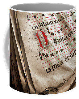 Medieval Choir Book Coffee Mug by Carlos Caetano