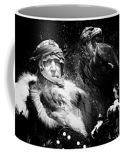 Coffee Mug featuring the photograph Medieval Fair Barbarian And Golden Eagle by Bob Christopher