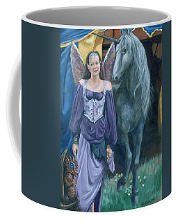 Coffee Mug featuring the painting Medieval Fantasy by Bryan Bustard