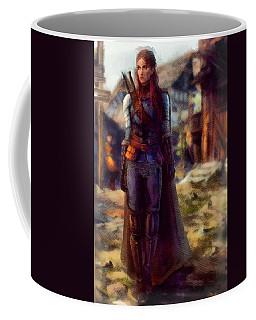 Medieval Lady Of Armor Coffee Mug