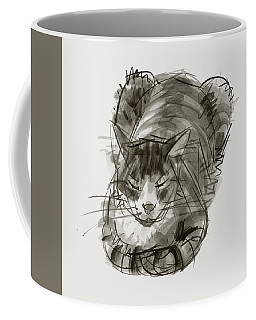 Meditating Cat Coffee Mug