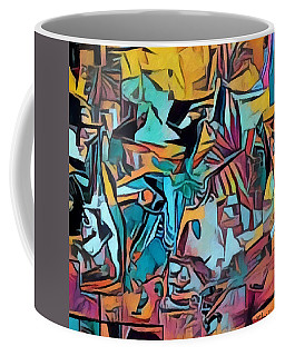 Meditating On And Contemplating Abstract Art Creates A Space Of Pure Perception Where Hope And Fear  Coffee Mug