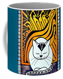 Meditation - Cat Art By Dora Hathazi Mendes Coffee Mug