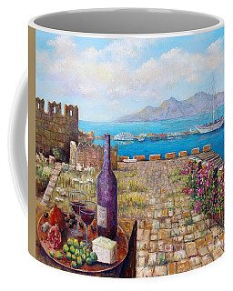 Mediterranean Picnic Kos Greece  Coffee Mug