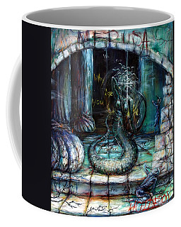 Coffee Mug featuring the painting Medusa by Heather Calderon
