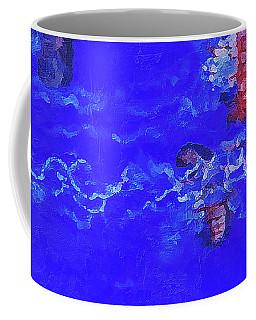 Coffee Mug featuring the digital art Medusas Jellyfishes by PixBreak Art