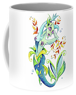 Meerjungfrau Art Design - Fantasy Illustration Coffee Mug